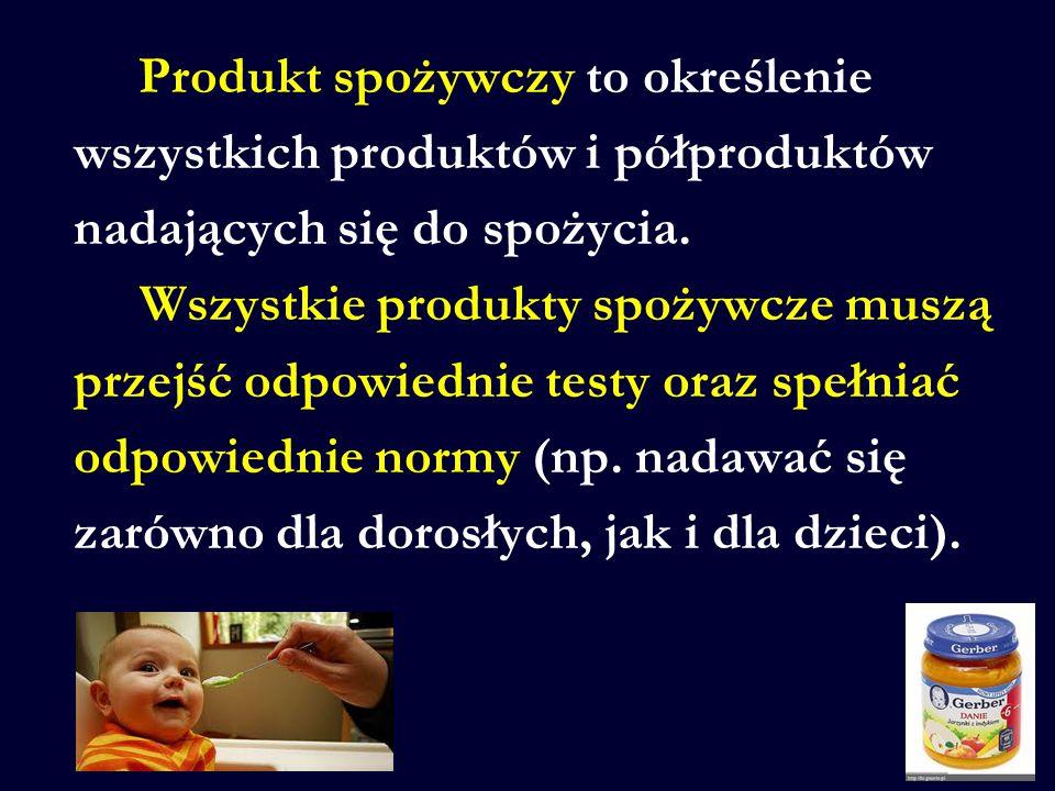 wszystkich produktów i półproduktów nadających się do spożycia.