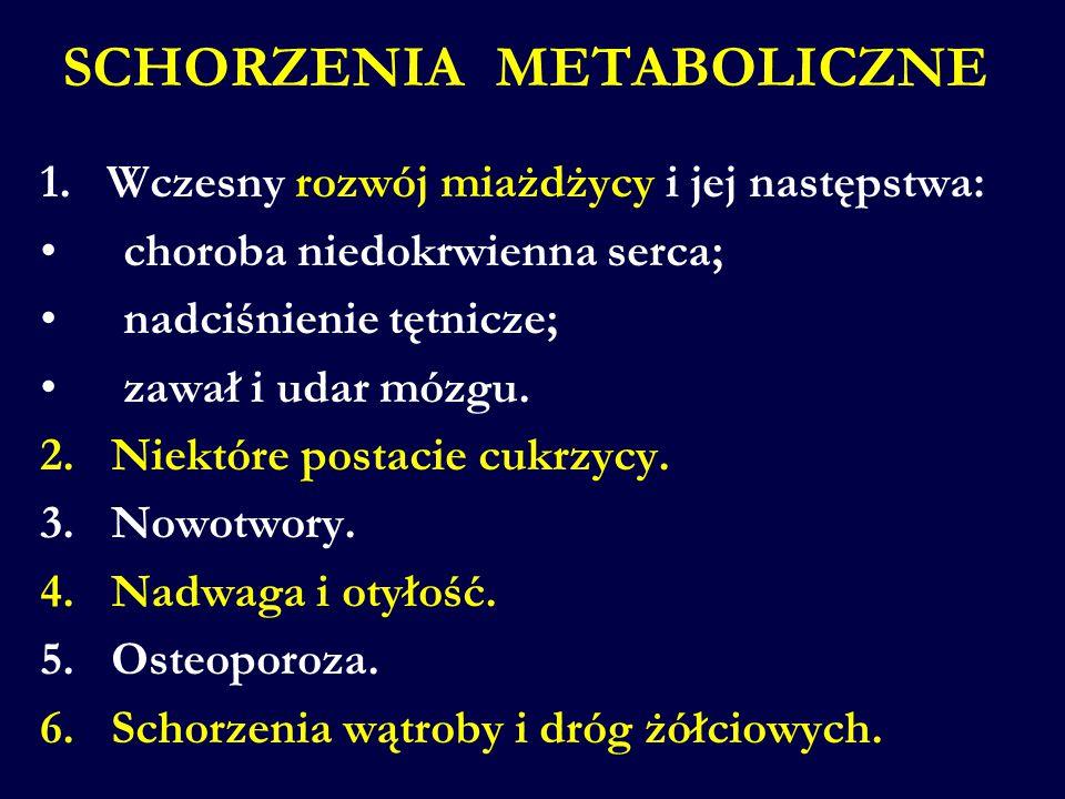 SCHORZENIA METABOLICZNE