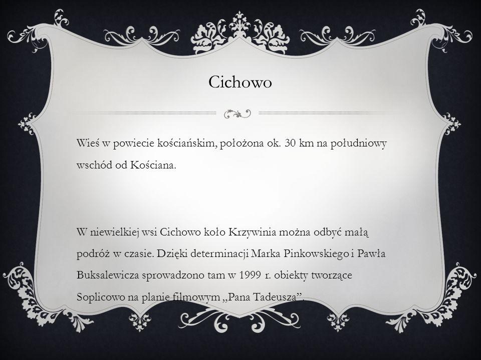 Cichowo Wieś w powiecie kościańskim, położona ok. 30 km na południowy wschód od Kościana.