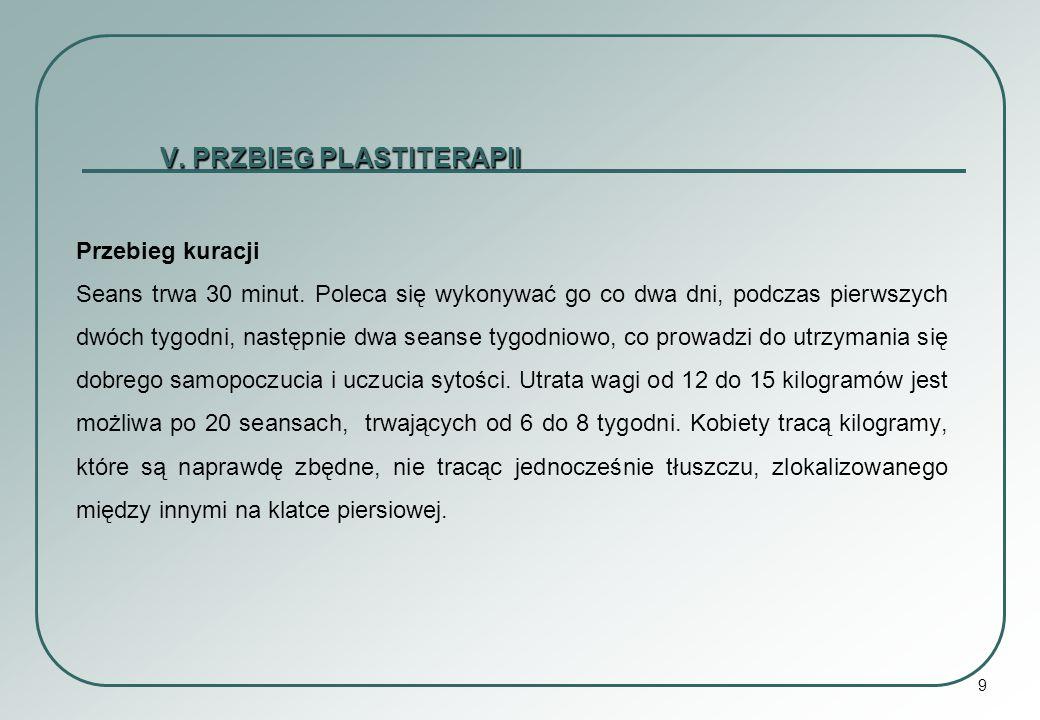 V. PRZBIEG PLASTITERAPII