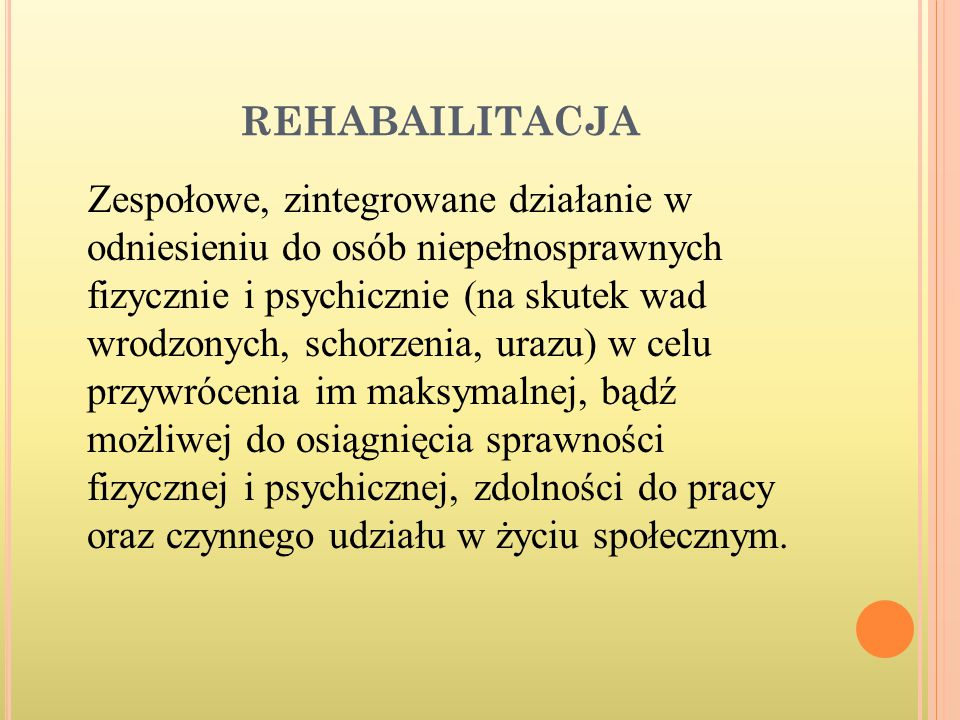 REHABAILITACJA
