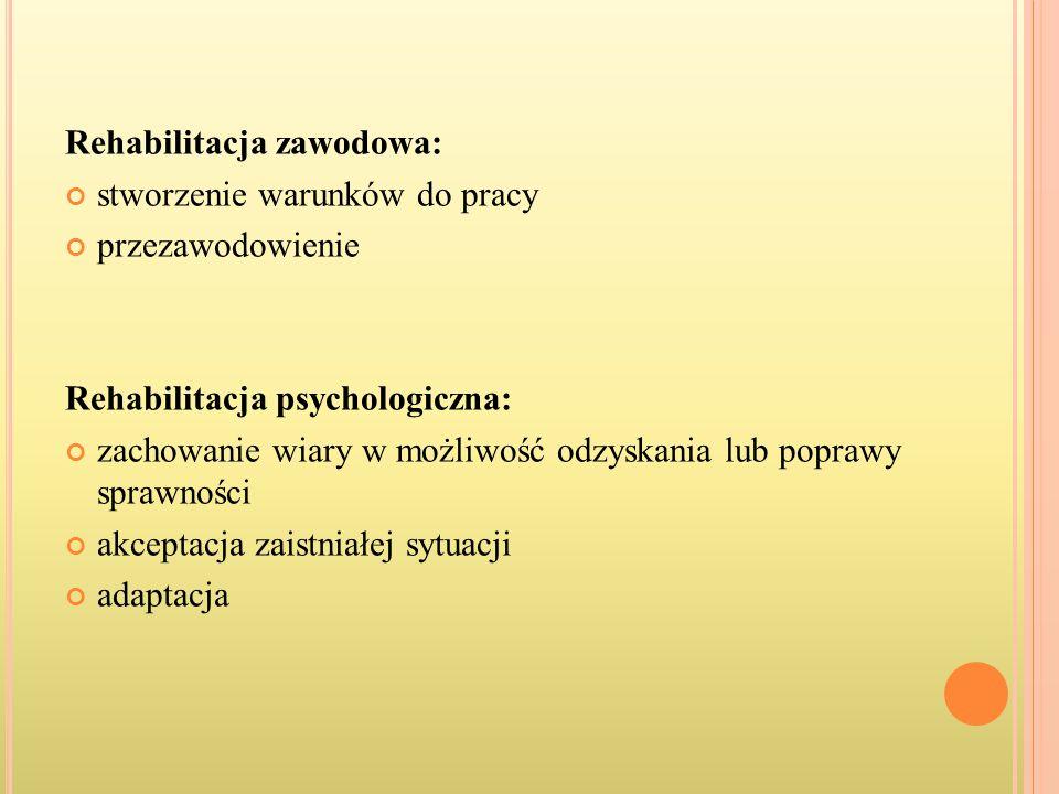 Rehabilitacja zawodowa: