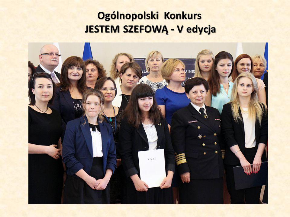 Ogólnopolski Konkurs JESTEM SZEFOWĄ - V edycja
