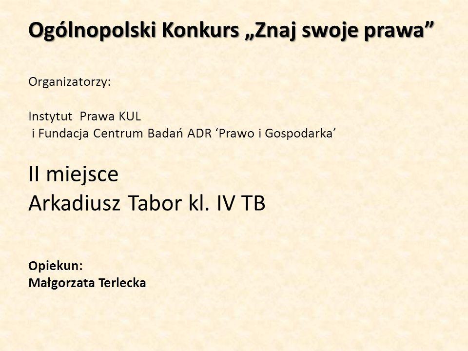 "Ogólnopolski Konkurs ""Znaj swoje prawa"