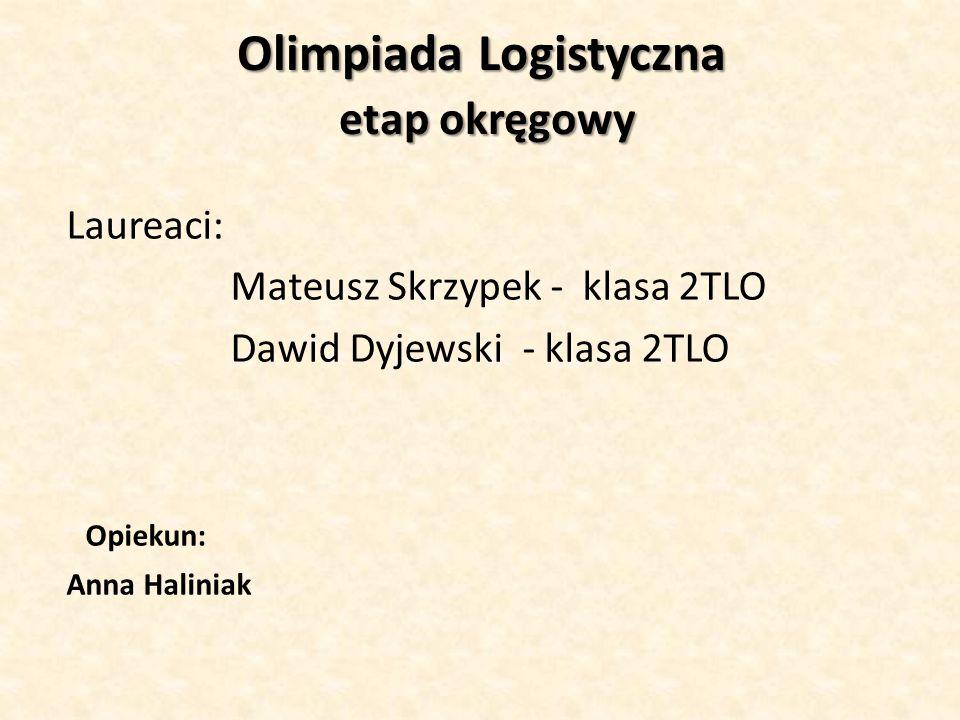 Olimpiada Logistyczna etap okręgowy