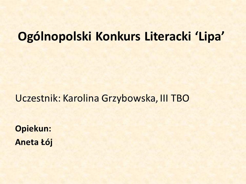 Ogólnopolski Konkurs Literacki 'Lipa'