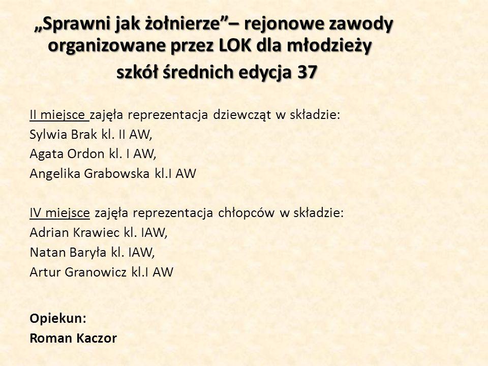 """""""Sprawni jak żołnierze – rejonowe zawody organizowane przez LOK dla młodzieży"""