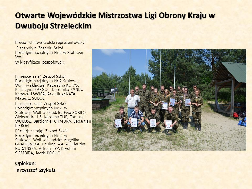 Otwarte Wojewódzkie Mistrzostwa Ligi Obrony Kraju w Dwuboju Strzeleckim