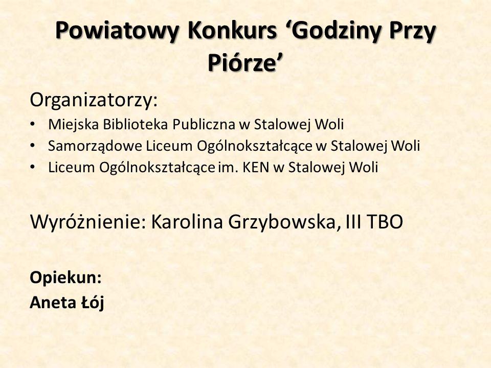 Powiatowy Konkurs 'Godziny Przy Piórze'