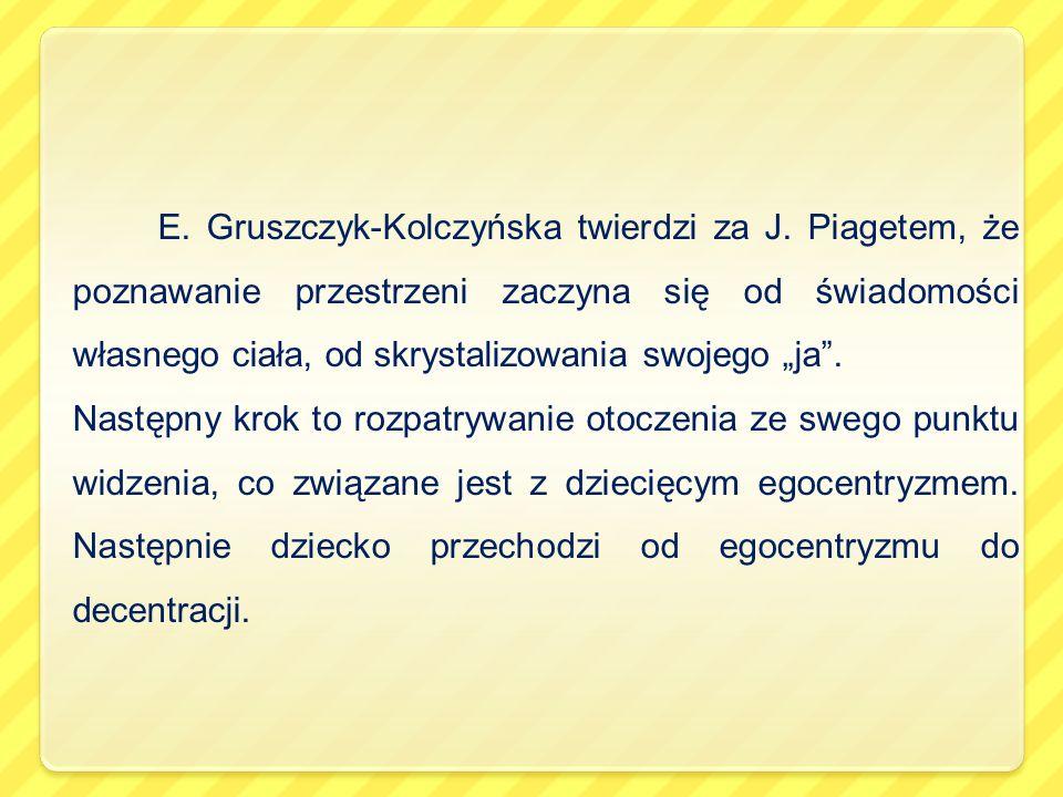 E. Gruszczyk-Kolczyńska twierdzi za J