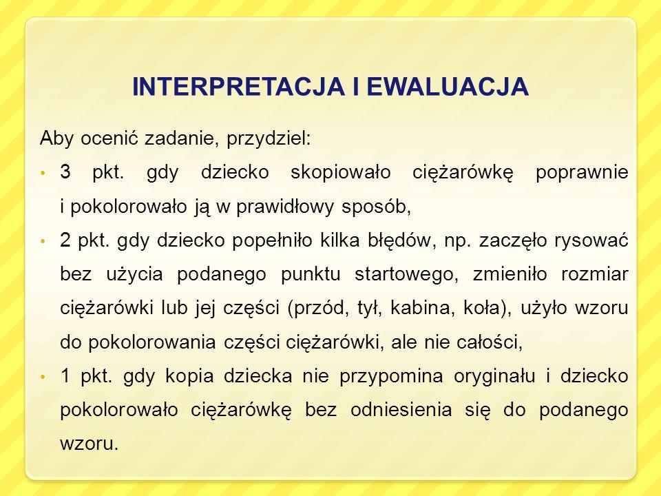 INTERPRETACJA I EWALUACJA