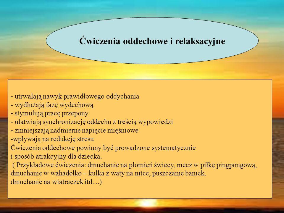 Ćwiczenia oddechowe i relaksacyjne