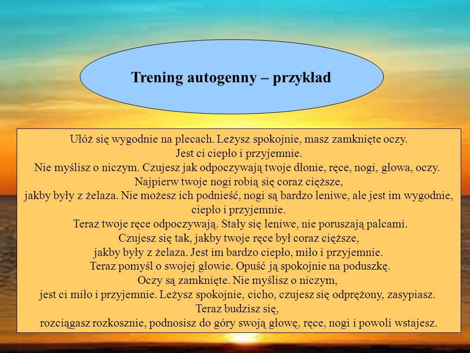 Trening autogenny – przykład