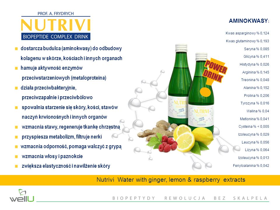 Nutrivi Water with ginger, lemon & raspberry extracts