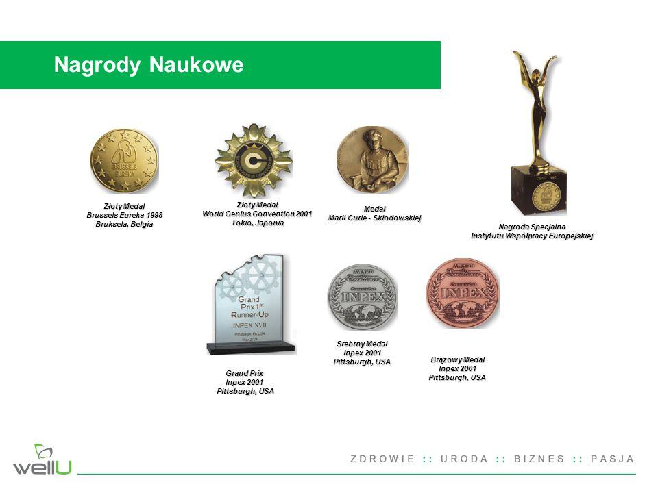 Nagrody Naukowe Złoty Medal Złoty Medal Brussels Eureka 1998