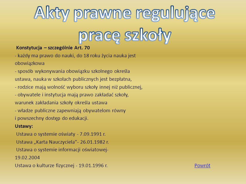 Akty prawne regulujące