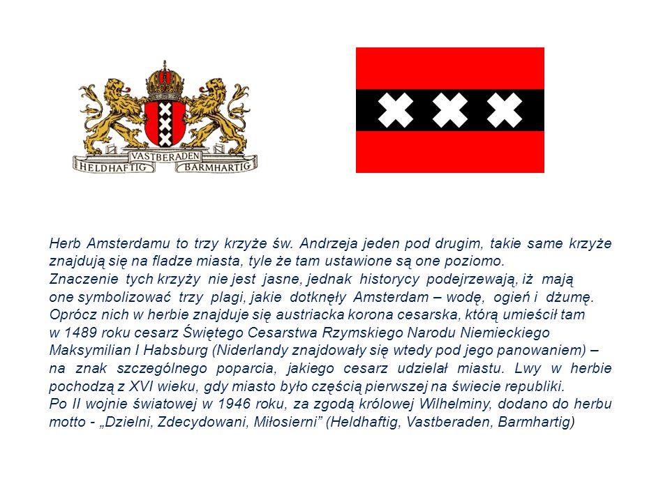 Herb Amsterdamu to trzy krzyże św