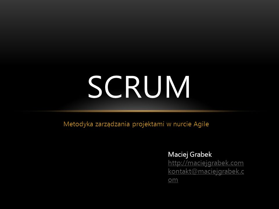 Metodyka zarządzania projektami w nurcie Agile