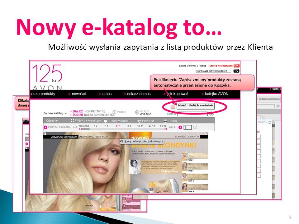 Nowy e-katalog to… Możliwość wysłania zapytania z listą produktów przez Klienta