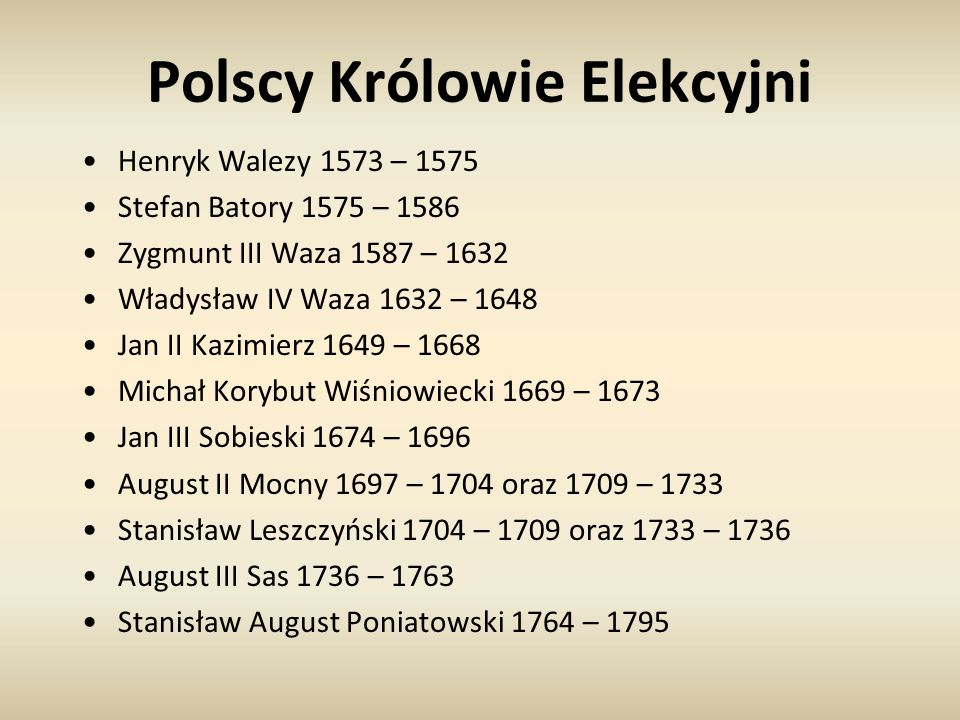 Polscy Królowie Elekcyjni