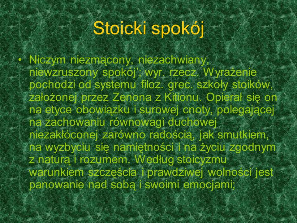 Stoicki spokój