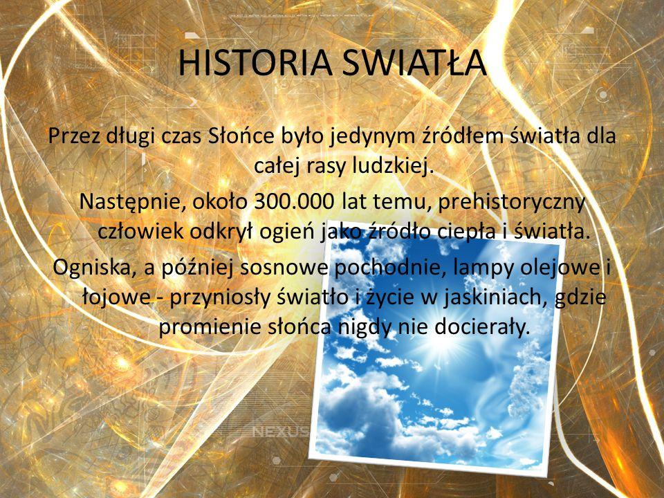 HISTORIA SWIATŁA