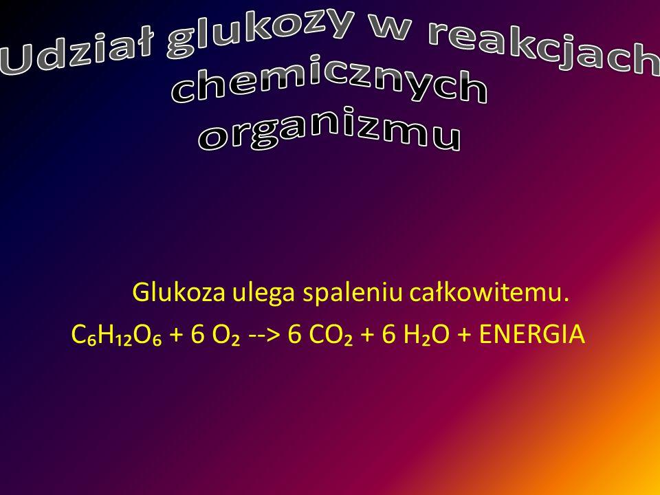 Udział glukozy w reakcjach chemicznych