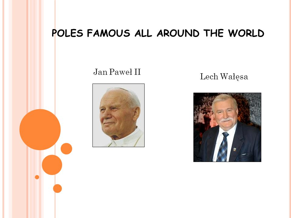 POLES FAMOUS ALL AROUND THE WORLD