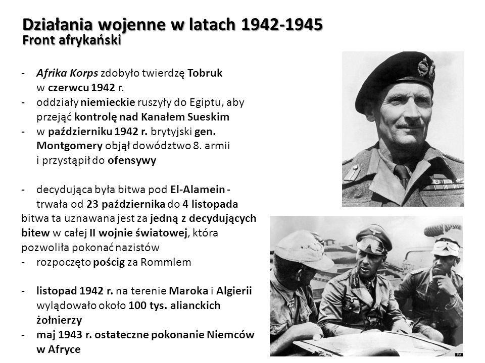 Działania wojenne w latach 1942-1945