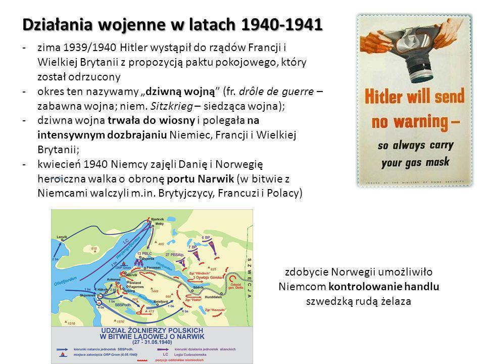 Działania wojenne w latach 1940-1941