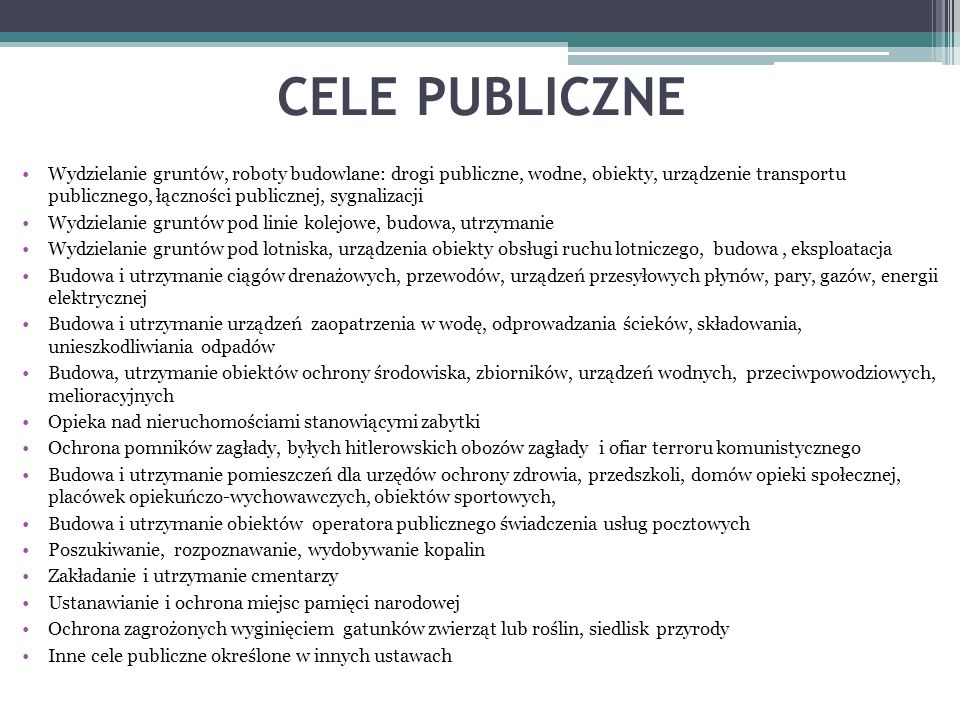CELE PUBLICZNE