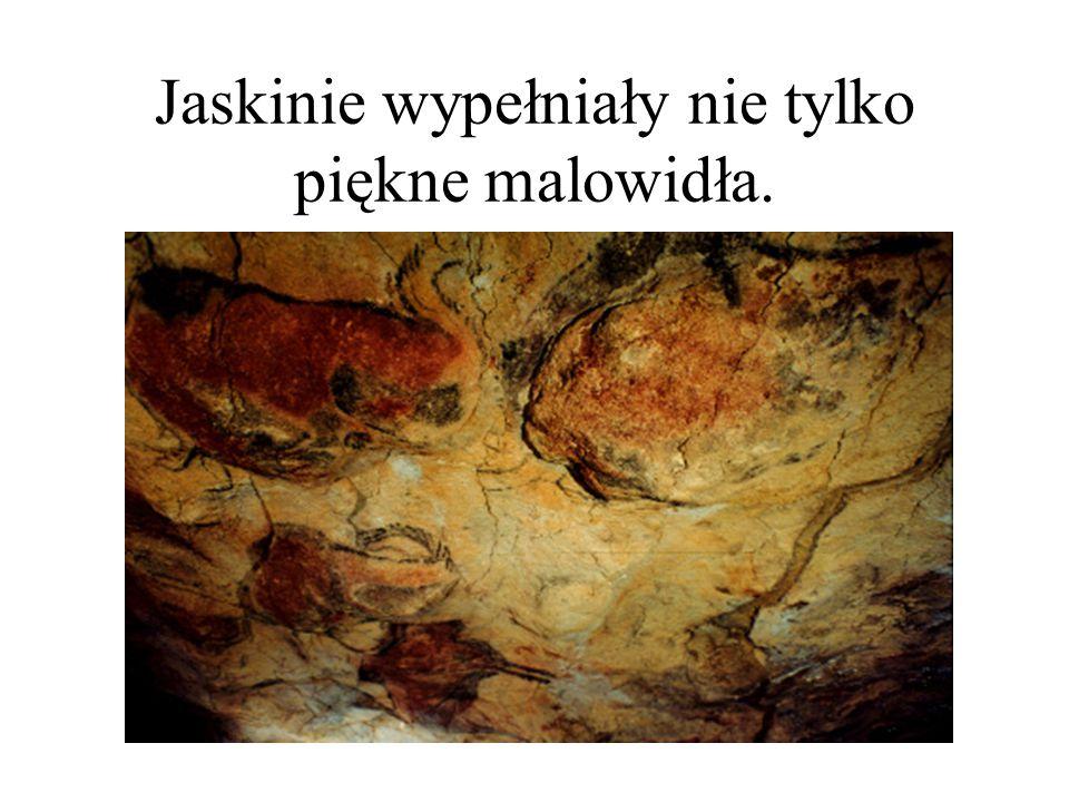 Jaskinie wypełniały nie tylko piękne malowidła.