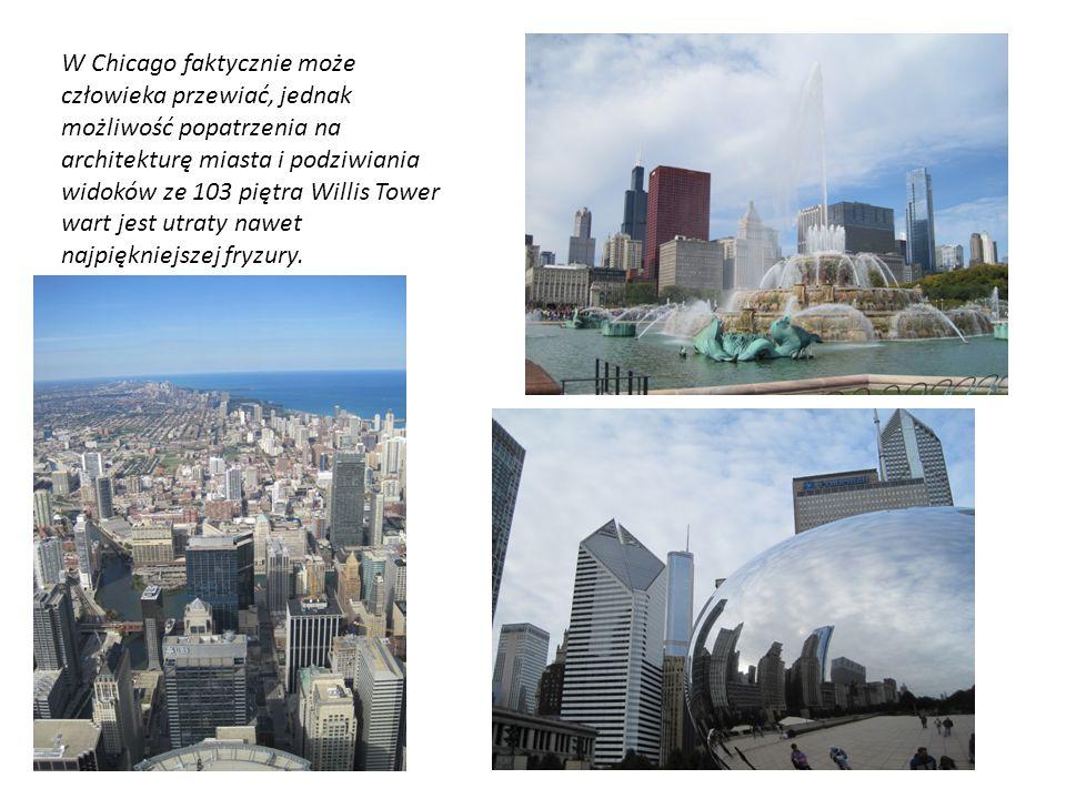 W Chicago faktycznie może człowieka przewiać, jednak możliwość popatrzenia na architekturę miasta i podziwiania widoków ze 103 piętra Willis Tower wart jest utraty nawet najpiękniejszej fryzury.