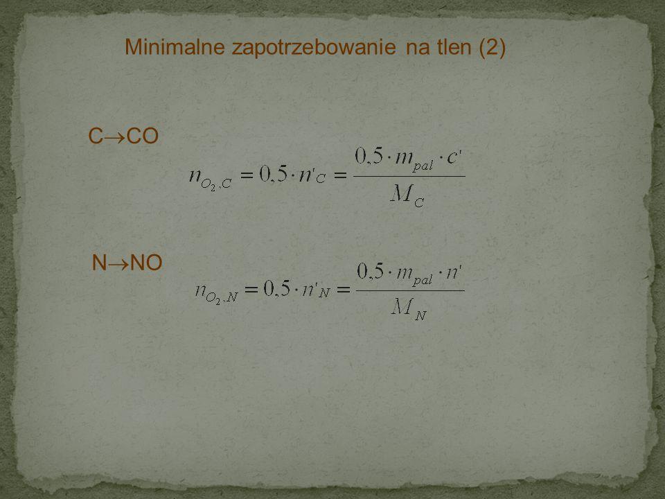 Minimalne zapotrzebowanie na tlen (2)