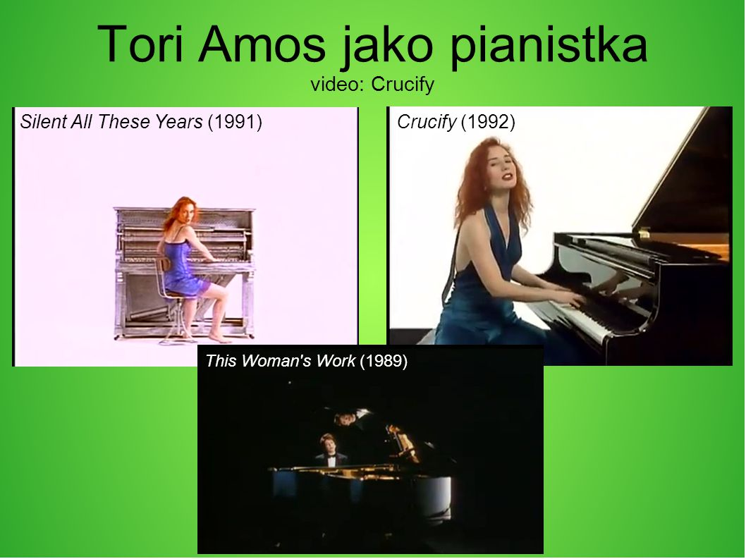 Tori Amos jako pianistka video: Crucify