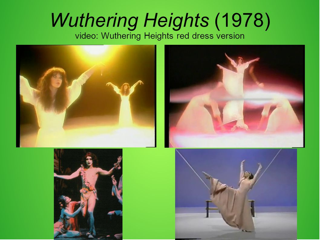 Wuthering Heights (1978) video: Wuthering Heights red dress version