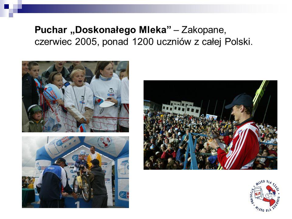 """Puchar """"Doskonałego Mleka – Zakopane, czerwiec 2005, ponad 1200 uczniów z całej Polski."""