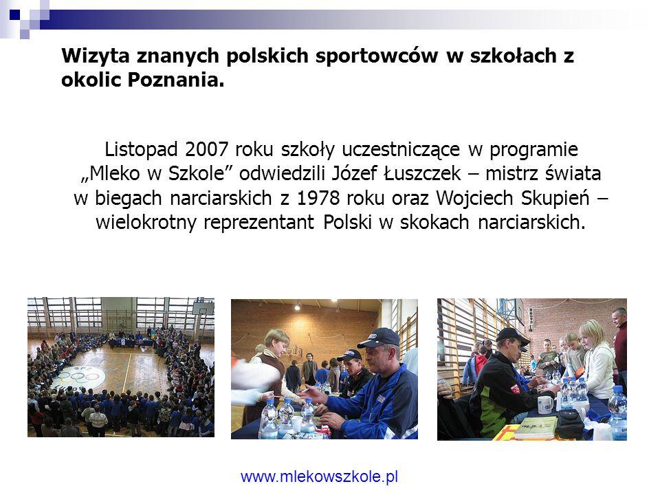 Wizyta znanych polskich sportowców w szkołach z okolic Poznania.