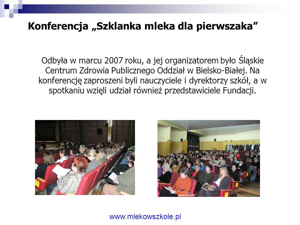 """Konferencja """"Szklanka mleka dla pierwszaka"""