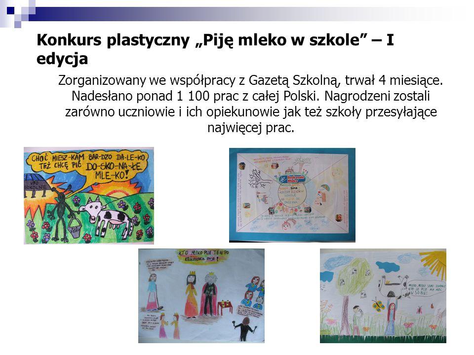 """Konkurs plastyczny """"Piję mleko w szkole – I edycja"""