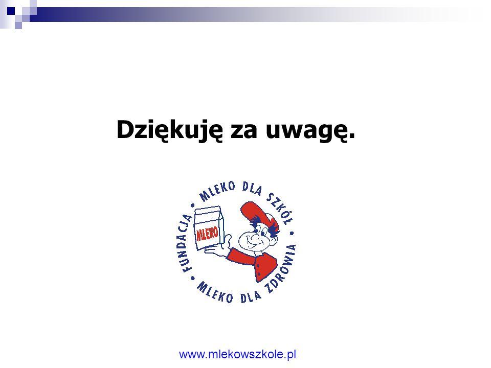 Dziękuję za uwagę. www.mlekowszkole.pl
