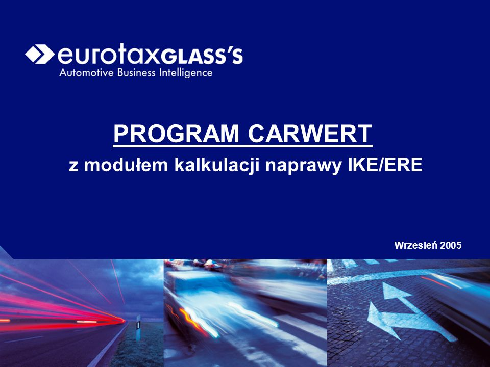 PROGRAM CARWERT z modułem kalkulacji naprawy IKE/ERE