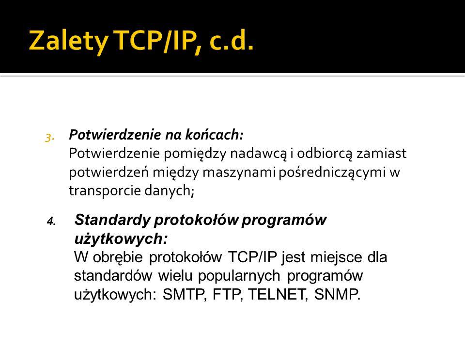 Zalety TCP/IP, c.d.