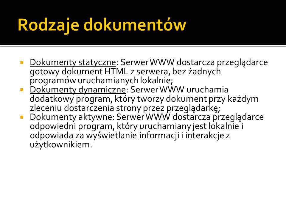 Rodzaje dokumentów