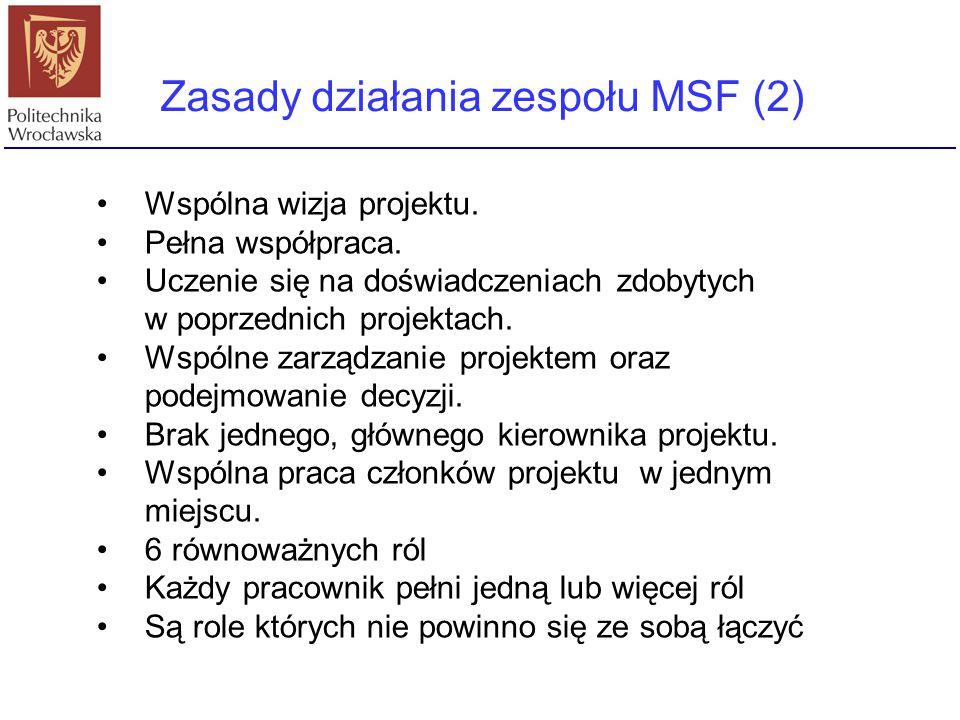 Zasady działania zespołu MSF (2)