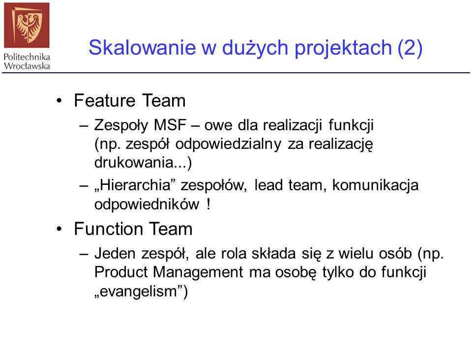 Skalowanie w dużych projektach (2)