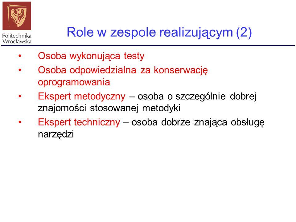 Role w zespole realizującym (2)