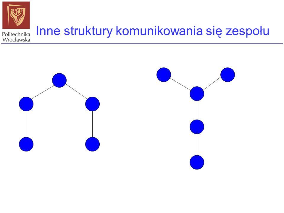 Inne struktury komunikowania się zespołu