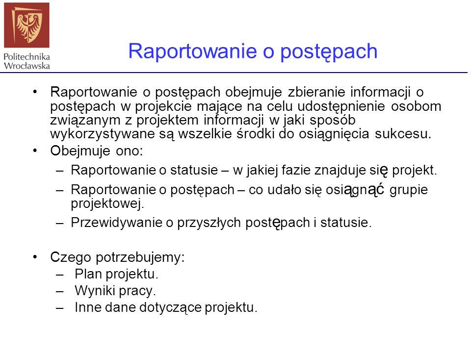 Raportowanie o postępach
