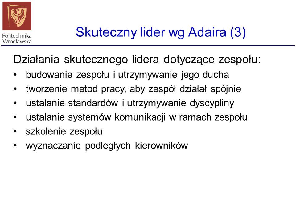 Skuteczny lider wg Adaira (3)